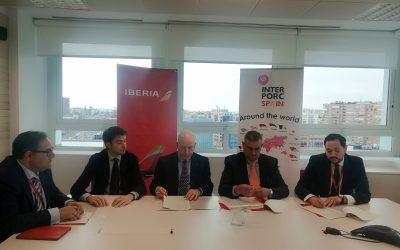 Interporc e Iberia se alían para la internacionalización del sector porcino