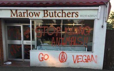 Los carniceros franceses piden al gobierno de Francia  protección contra los veganos violentos.-